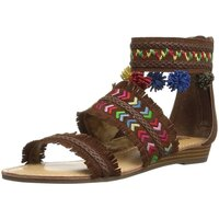 Carlos by Carlos Santana Womens Tangier Leather Open Toe Casual Ankle Strap S... US