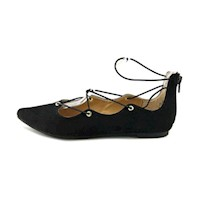 Material Girl Womens Ibby Pointed Toe Ballet Flats US
