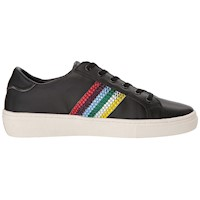 Skecher Street Womens Goldie Rainbow Rockers Leather Low Top Lace Up Fashion ... US