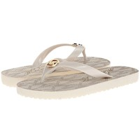 Michael Kors Jet Set MK Metallic PVC Rubber Flip Flops US