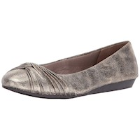 LifeStride Womens Pretend Closed Toe Ballet Flats US