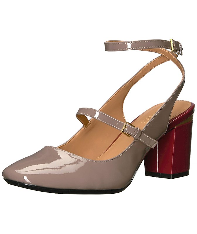 a8df5f1dfd1a6 Calvin Klein Womens Cleary Patent Cap Toe Ankle Strap Classic Pumps ...