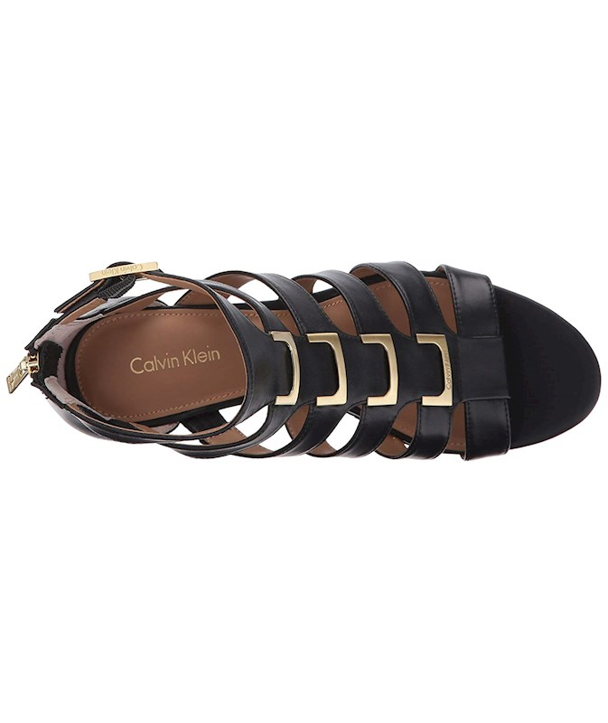 4d3409d8f3bf Calvin Klein Womens Brilla Leather Open Toe Formal Strappy Sandals ...