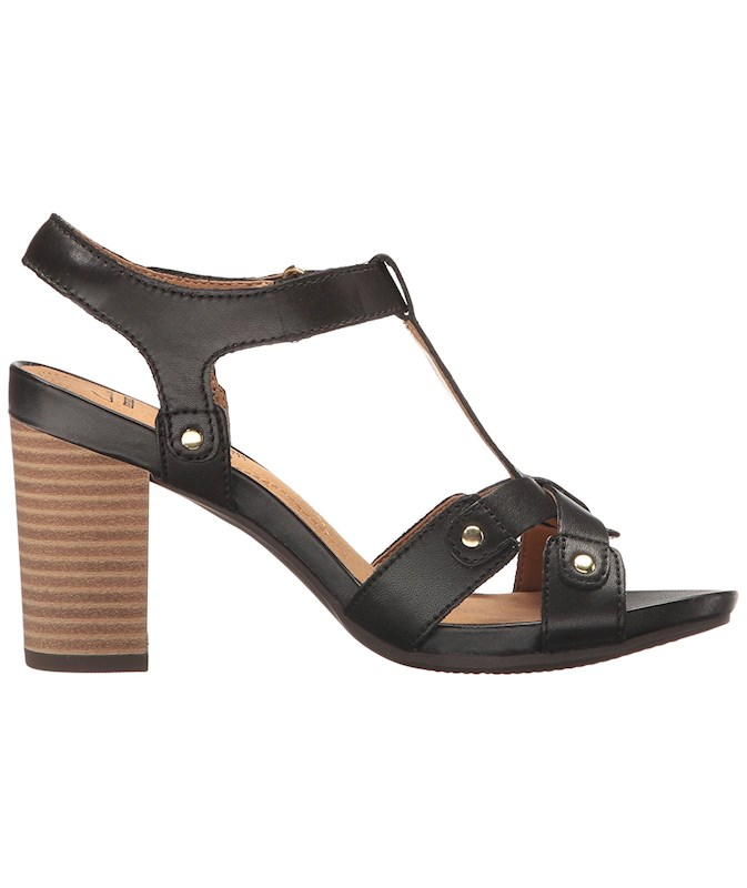 1c643a9a8603 CLARKS Womens Banoy Valtina Leather Open Toe Casual Ankle Strap ...