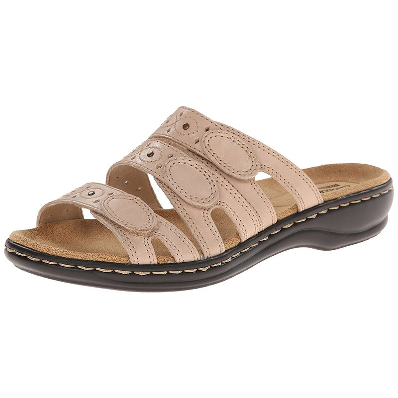 c01a9925a9e CLARKS Womens leisa cacti q Open Toe Casual Slide Sandals US