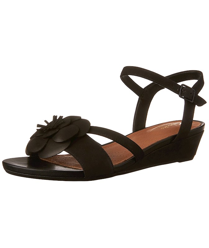 d43f8fd18c6 CLARKS Womens Parram Stella Leather Open Toe Casual Ankle Strap ...
