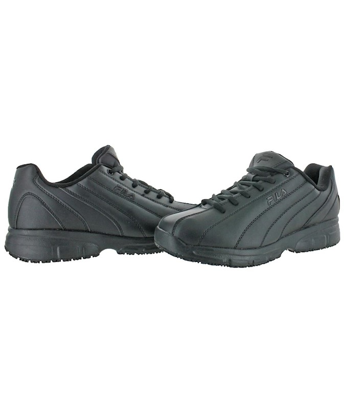 af589149d6 Fila Mens Memory Nite Shift Soft toe Lace Up Safety Shoes, Black, Size 7.5  US