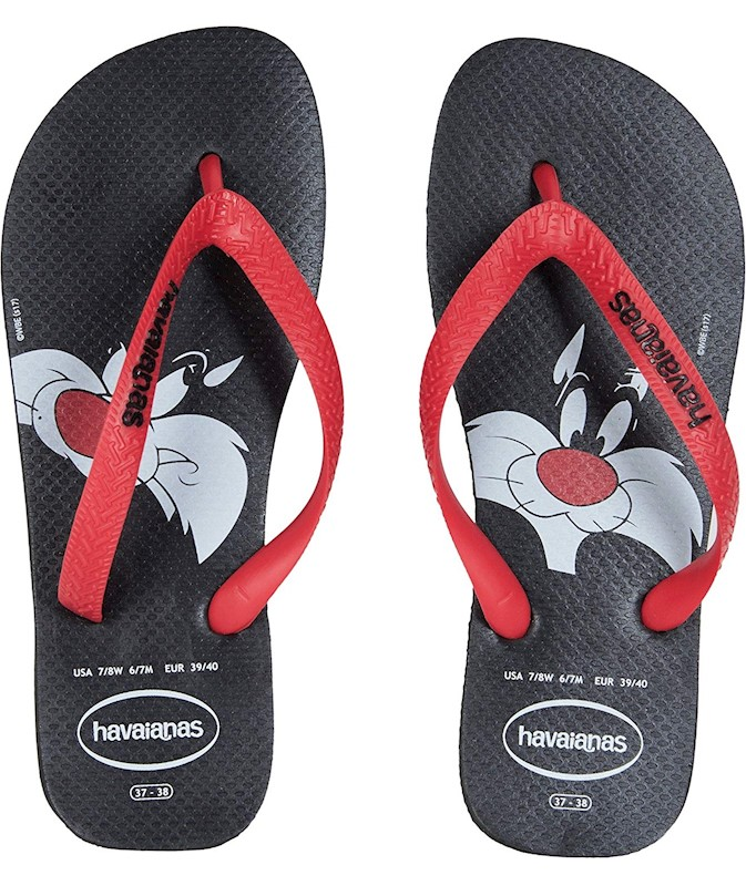 c88f17ce1072ec Havaianas Women s Looney Tunes Sandal Black Red US
