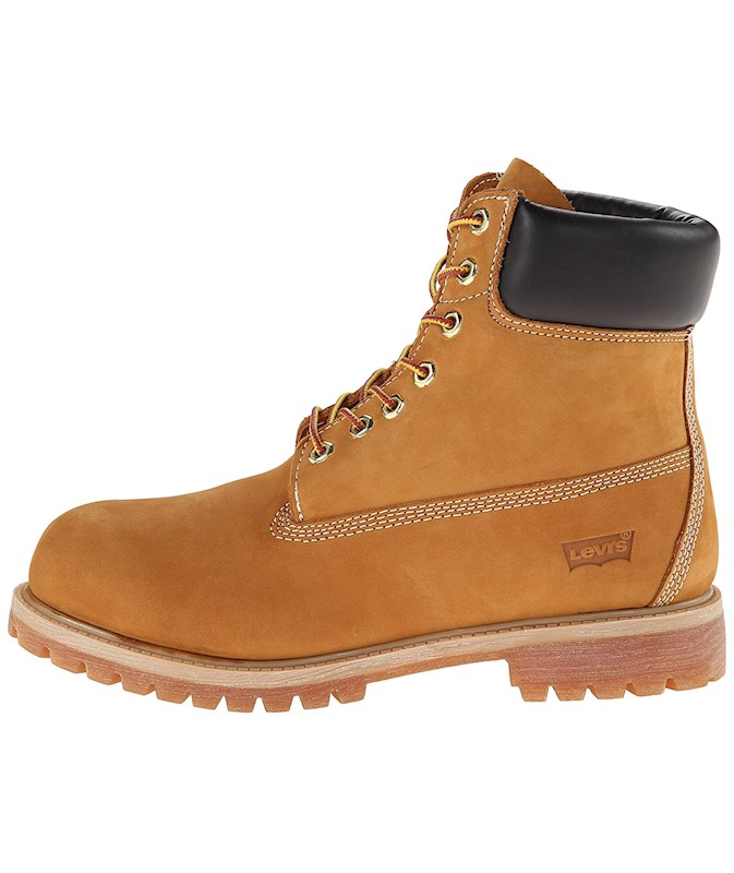 a06070f482df9 Levi's Mens 516429-11B/Harrison Leather Soft toe Lace Up Safety ...