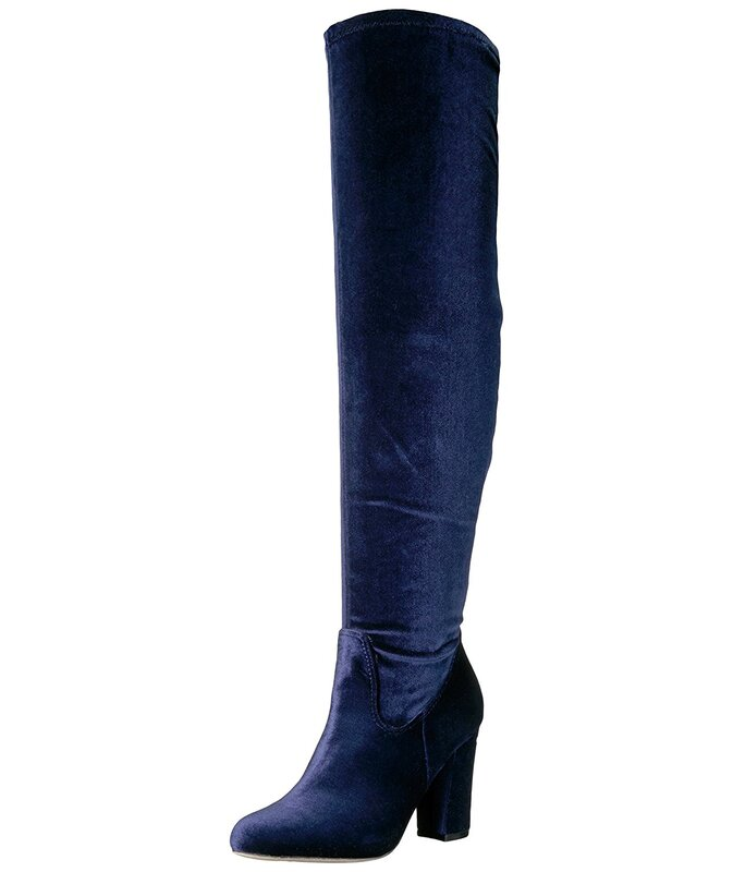 2f9319cabbf Madden Girl Womens FELIZE Fabric Closed Toe Over Knee Fashion Boots ...