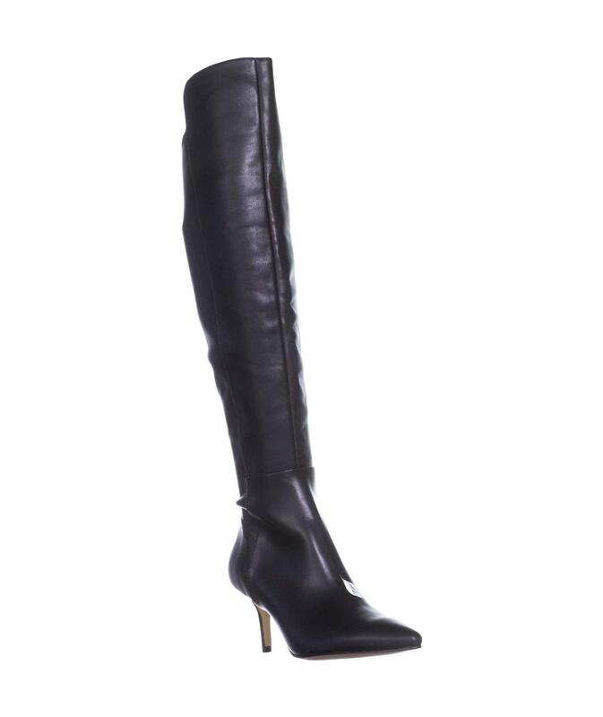 184a5a7d6a Marc Fisher Womens Adana Leather Pointed Toe Over Knee Fashion Boots ...