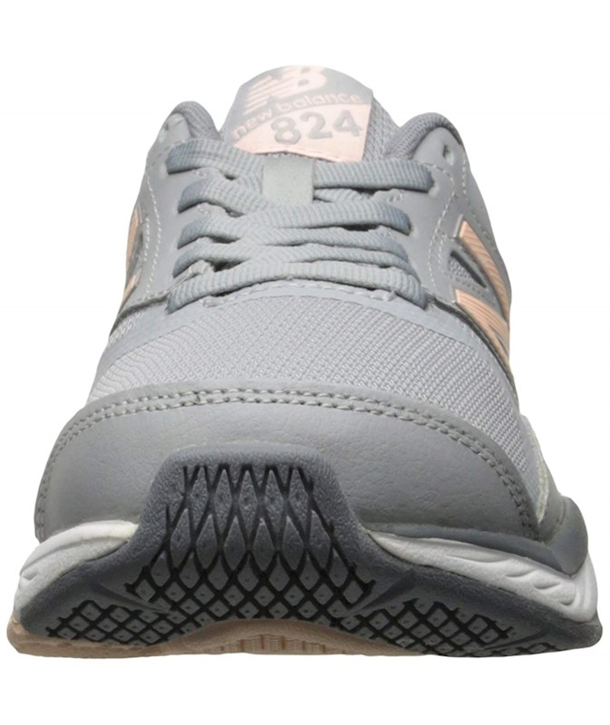 d4accdb849b16 NEW BALANCE WOMENS WX824 LEATHER LOW TOP LACE UP RUNNING SNEAKER US