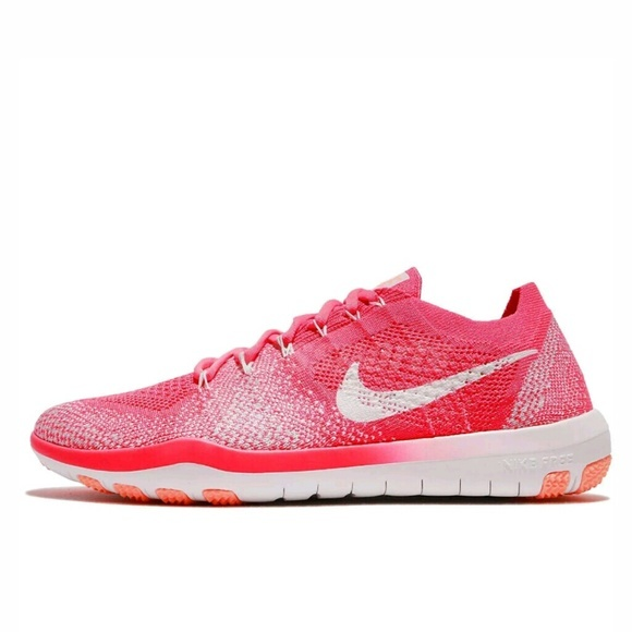 8dcdf8005716 Nike Womens Free Focus Flyknit 2 Fabric Low Top Lace Up Running ...
