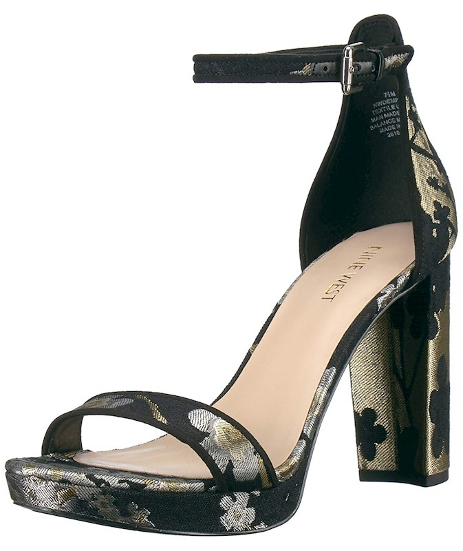 310847013477 Nine West Womens Dempsey Open Toe Ankle Strap Wedge Pumps US