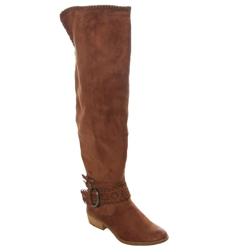 f7e92f6e204 Not Rated Womens Beval Fabric Closed Toe Over Knee Riding Boots US ...