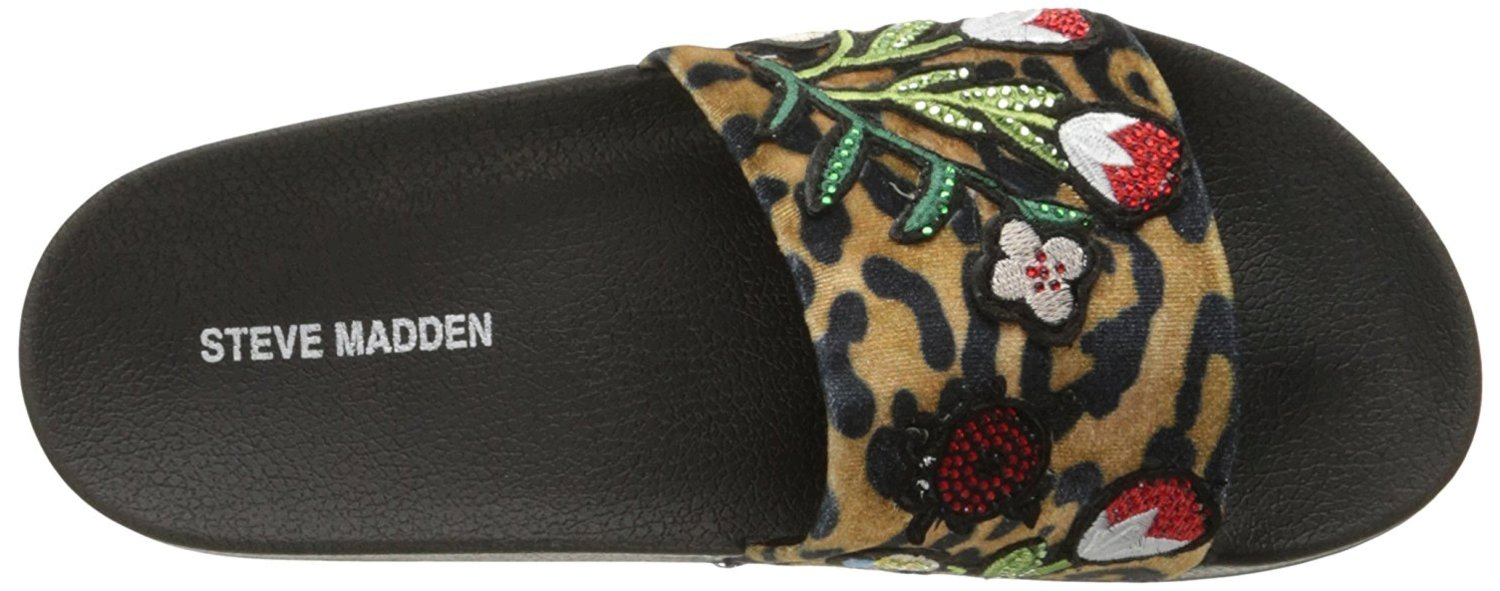 3862527d764 STEVE MADDEN WOMENS PATCHES OPEN TOE CASUAL SLIDE SANDALS US