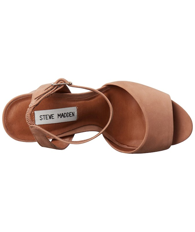285303aaf76 Steve Madden Womens Brrit Leather Open Toe Casual Ankle Strap ...