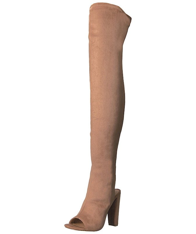 3bf38a6a0f8 Steve Madden Womens Kimmi Suede Open Toe Over Knee Fashion Boots US