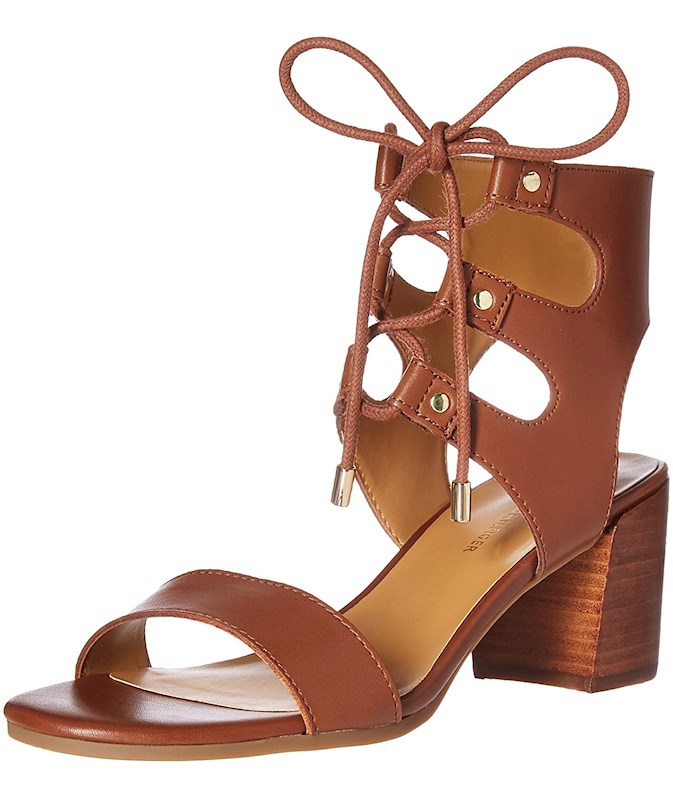 0aac55028 Tommy Hilfiger Womens Cache Leather Open Toe Casual Ankle Strap ...