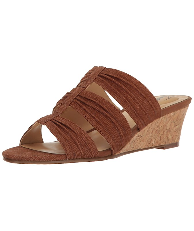 02e8eac78778 Trotters Womens MIA Leather Open Toe Casual Slide Sandals US