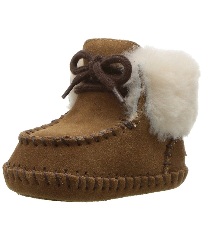 6493c471a4b UGG AUSTRALIA GIRLS I SPARROW SUEDE ANKLE SLIP ON SNOW BOOTS US
