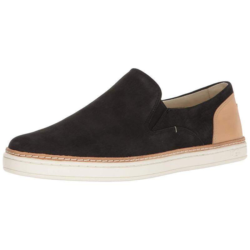 bc923064bd9 UGG AUSTRALIA WOMENS ADLEY LEATHER LOW TOP PULL ON FASHION SNEAKERS US