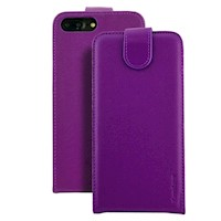 For iPhone 8 PLUS,7 PLUS Case,iCoverLover Vertical Flip Genuine Leather,Purple