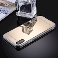 For iPhone XS,X Case,Elegant Electroplating Mirror Durable Protective Cover,Gold