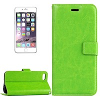 For iPhone 8 PLUS,7 PLUS Wallet Case,Elegant Horse Texture Leather Cover,Green