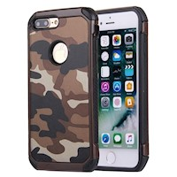 For iPhone 8 PLUS,7 PLUS Case,Stylish Camouflage TPU Hard Armour Cover,Brown