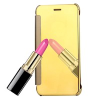 For iPhone 8 PLUS,7 PLUS Case,Elegant Electroplating Mirror Shielding Cover,Gold