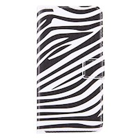 For iPhone 8 PLUS,7 PLUS Wallet Case,Zebra Textured Protective Leather Cover
