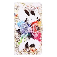 For iPhone 8 PLUS,7 PLUS Wallet Case,Crystal Butterfly Protective Leather Cover