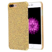 For iPhone 8 PLUS,7 PLUS Case,Stylish Twinkling Paillette Durable Cover,Gold