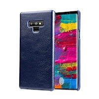 For Samsung Galaxy Note 9 Case,Genuine Leather Back Thin Mobile Phone Cover,Blue