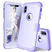 For iPhone XS Max Case Light Purple Drop-proof Silicone Protection Cover