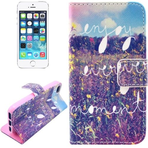 on sale 59f99 833ec For iPhone 6S,6 Wallet Case,Enjoy Every Moment Durable Leather Shielding  Cover