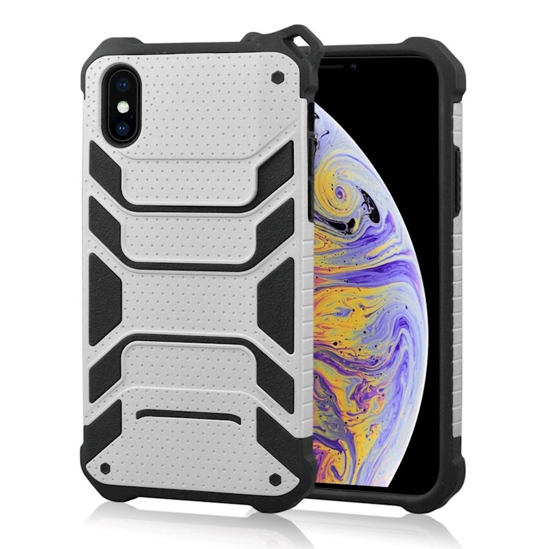 quality design 0818a d6ac1 For iPhone XS Max Cover,Shockproof Dustproof Strong Armour Phone Case,Silver