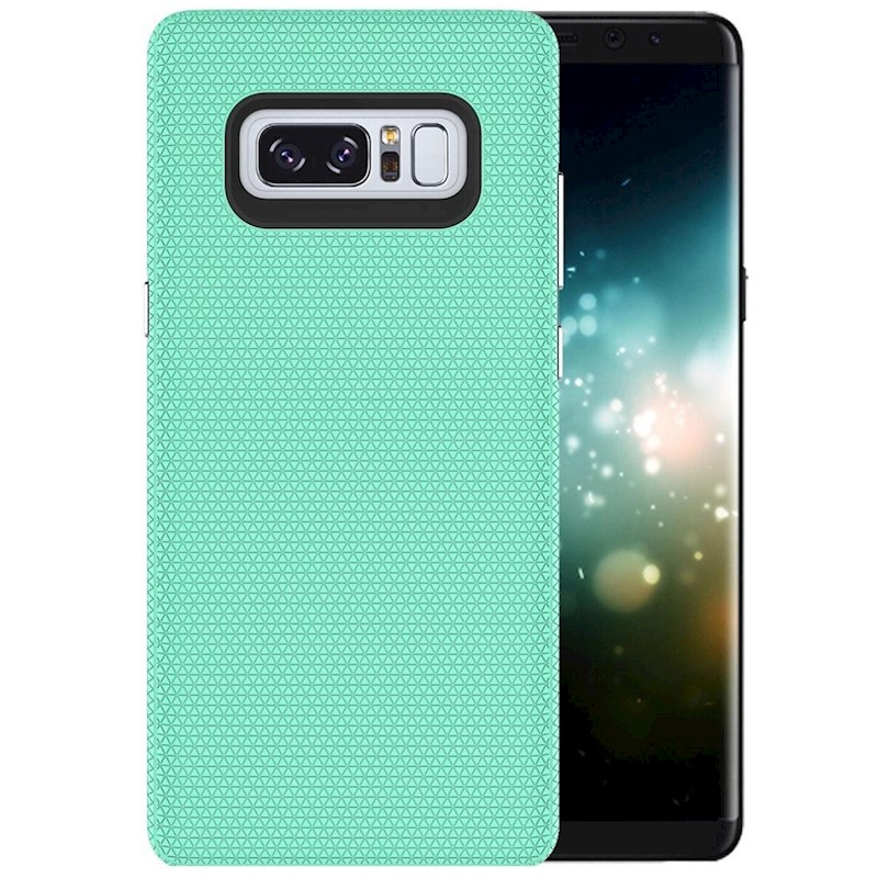 For Samsung Galaxy Note 8 Case,Chrome Plate Armour Durable Shielding  Cover,Green