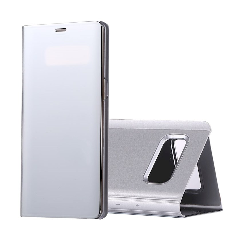 For Samsung Galaxy Note 8 Case, Electroplating Mirror Leather Cover,Silver