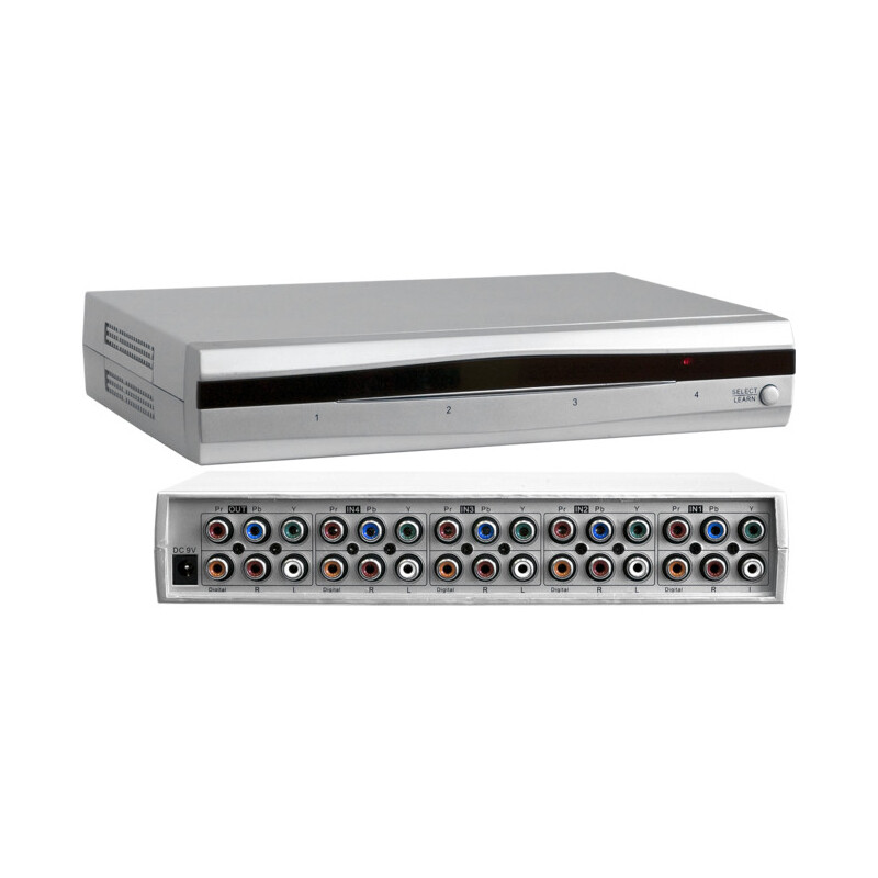 hd4dcad pro2 4 way component video selector 4 in 1 out switcher