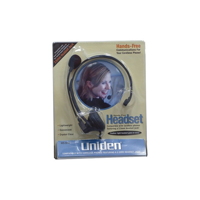 HS910 Headset To Suit Uniden Phones Compatible With Most Phones