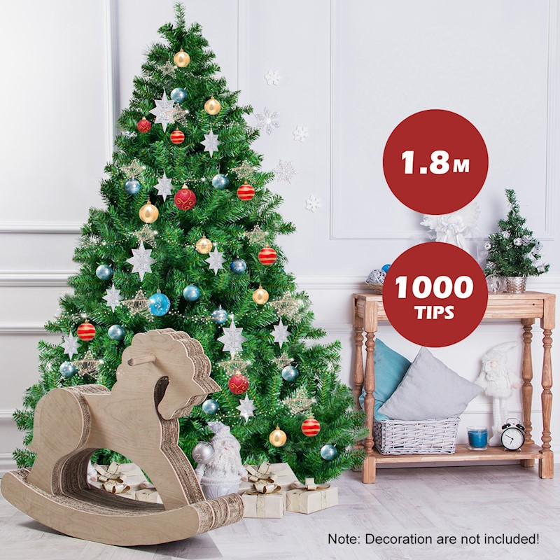 1.8M Hinged Christmas Tree Premium Pine Automatic And Re