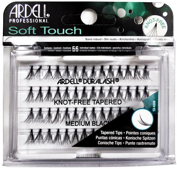 e5c1b1e7bf9 Ardell Soft Touch Duralash Knot Free Tapered Medium Black   Buy ...