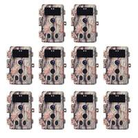 10-Pack Game Trail Wildlife Cameras 16MP 1080P with Night Vision Motion  Activated Waterproof IP66 No Flash 940nm Infrared 2-PIR 0 2S Trigger 2 4
