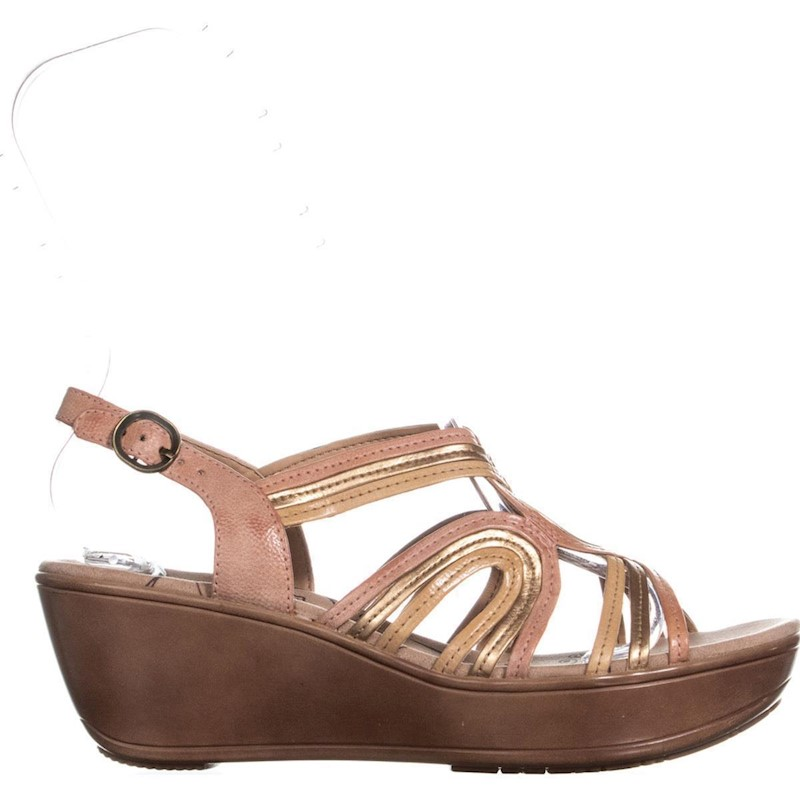 fb7cc719d5 BareTraps Dangle Open Toe Wedge Sandals, Peach/Copper | Buy Heels ...