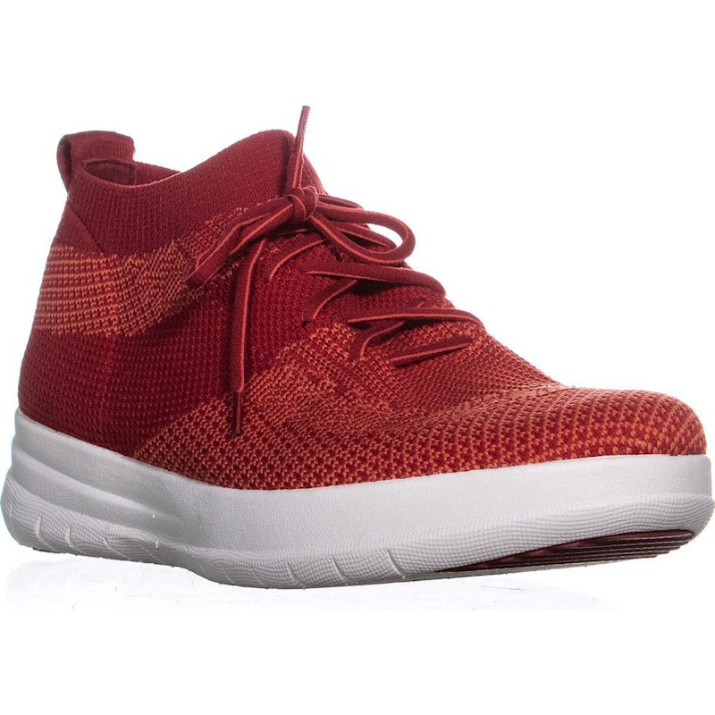 Fitflop Uberknit Slip On High Top Sneakers Classic Red
