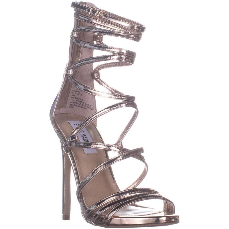 Steve Madden Strappy Heeled Sandals, Rose Gold
