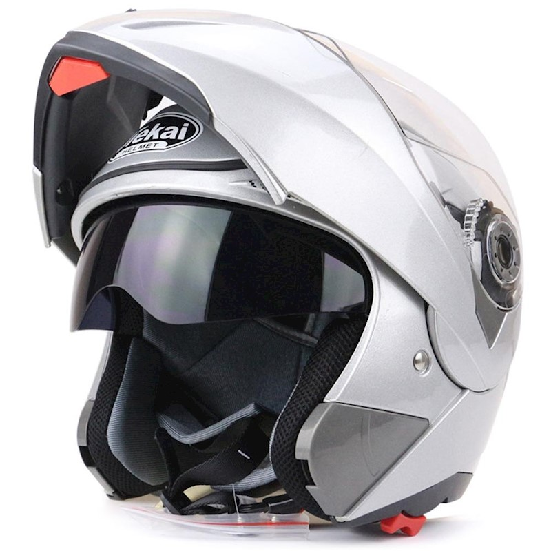 48a6777c h m s Remaining. Full Face Motorcycle Helmet Dual Visor Street Bike with Transparent  Shield