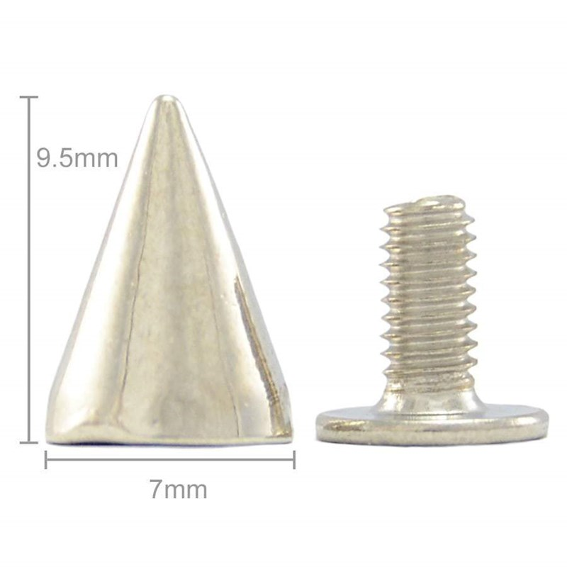 9 5mm High Screwback Small Cone Studs Spikes (Pack of 100)